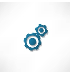 gears isolated object on white background vector image