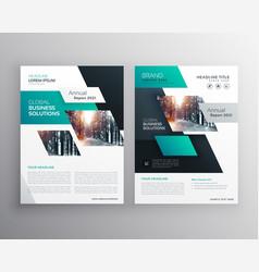 Geometric business brochure flyer design template vector