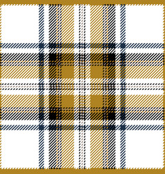 gold and white tartan plaid seamless pattern vector image