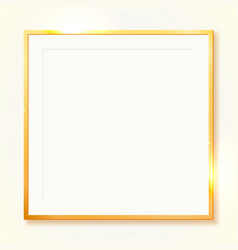 Gold shiny vintage border isolated on transparent vector