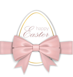 Happy easter background lettering egg greeting vector