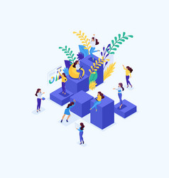 isometric concept for big business vector image
