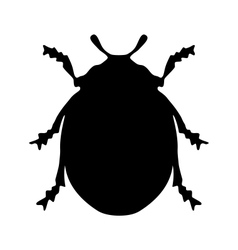 Ladybird silhouette vector image