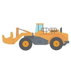 Large yellow dredge vector image