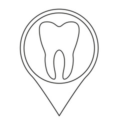 line art black and white dental clinic map sign vector image