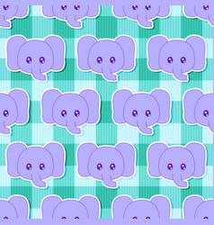 little elephant pattern vector image
