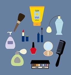 Make up icons set vector