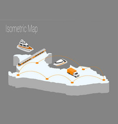 map peru isometric concept vector image