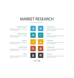Market research infographic cloud design template vector