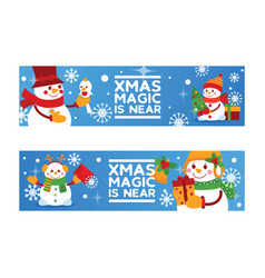 Merry christmas snowman new year greeting vector