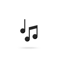 music notes music icon isolated on white vector image