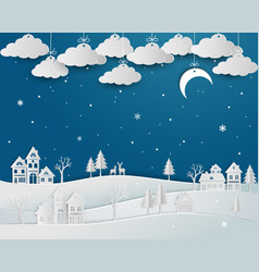 nature landscape with countryside in winter vector image
