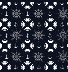nautical frame with set icons vector image