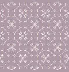 Ornamental seamless pattern with delicate grid vector