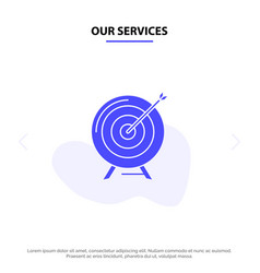 Our services target aim archive business goal vector