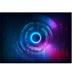 Purple blue futuristic technology vector