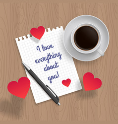 quote i love everything about you vector image