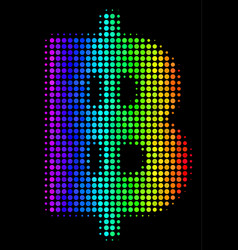 Rainbow colored dot baht icon vector
