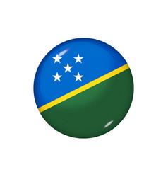 Round flag solomon islands button icon glossy vector