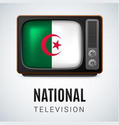 round glossy icon of algeria vector image
