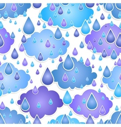 seamless background with drops of a rain vector image