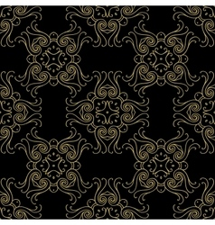 Seamless texture with luxury arabic damask vector image