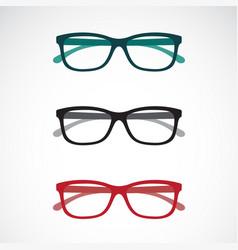 set eye glasses icons isolated on white vector image