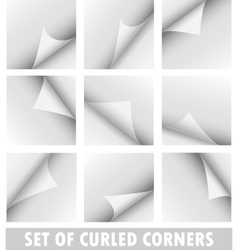 Set of curled corners vector