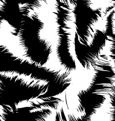 Snow tiger stripes in a seamless pattern vector
