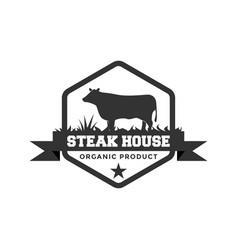 steak house logo design inspiration vector image