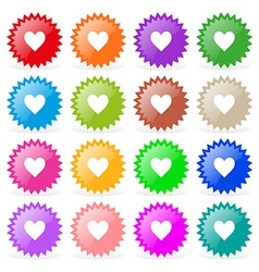 Stickers hearts vector image