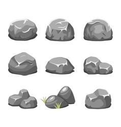 Stones and rocks cartoon vector image vector image