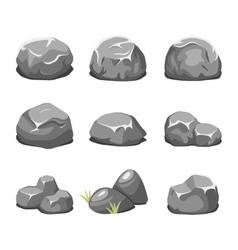 Stones and rocks cartoon vector