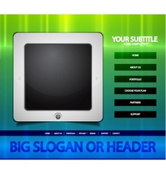 tablet web page vector image