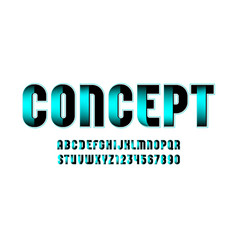 Techno font digital alphabet letters and numbers vector