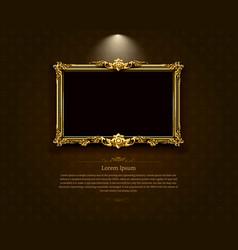 Thai art frame border pattern vector
