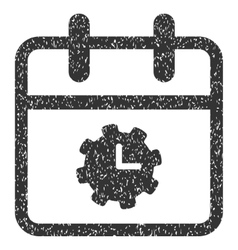 Time Service Day Grainy Texture Icon vector