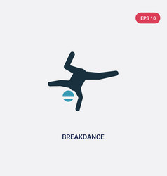 Two color breakdance icon from sports concept vector