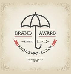 umbrella protector concept design vector image