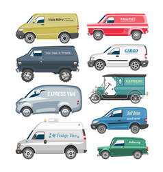 Van car minivan delivery cargo auto vehicle vector