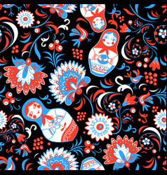 Vibrant russian ornaments vector