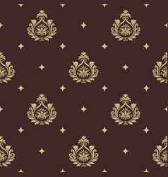 Vintage pattern seamless baroque with element vector