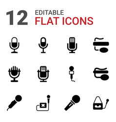 Vocal icons vector