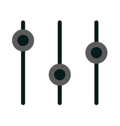 volume mixer icon vector image