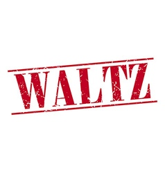 Waltz red grunge vintage stamp isolated on white vector