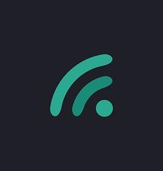 WiFi zone computer symbol vector image