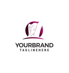 women style logo design concept template vector image