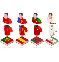 World cup group b jersey set vector