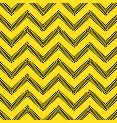 Yellow tire track zig-zag vector