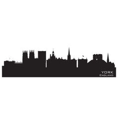 York England city skyline Detailed silhouette vector image